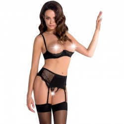 LEG AVENUE SET 2 PIEZAS TOP Y TANGA TALLA UNICA