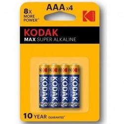 KODAK MAX  SUPER PILA ALCALINA AA LR6 BLISTER*4