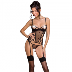 PASSION LOVELIA CORSET NEGRO L/XL