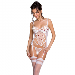 PASSION LOVELIA CORSET BLANCO L/XL