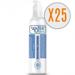 WATERFEEL LUBRICANTE EFECTO FRIO 150ML PACK 25 UDS