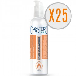 WATERFEEL LUBRICANTE EFECTO CALOR 150ML PACK 25 UDS