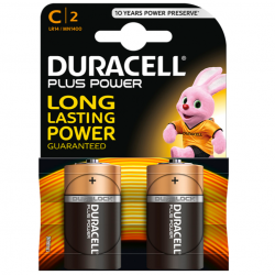 DURACELL PLUS POWER PILA ALCALINA C LR14 BLISTER*2
