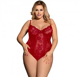 QUEEN LINGERIE TEDDY BURDEOS PLUS SIZE