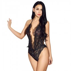 QUEEN LINGERIE TEDDY ESTAMPADO S/M