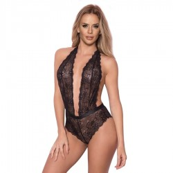 QUEEN LINGERIE TEDDY BORDES ONDULADOS S/M