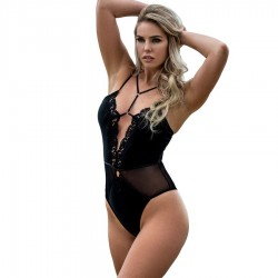 QUEEN LINGERIE TEDDY ESCOTE TIRANTAS L/XL