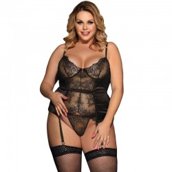 SUBBLIME QUEEN PLUS CORSET DE ENCAJES CENTRAL