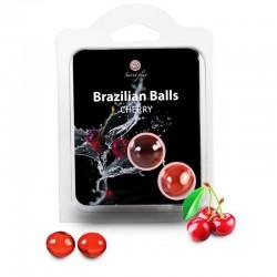 SECRETPLAY BRAZILIAN BALLS CEREZA SET 2 BOLAS