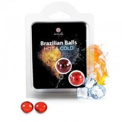 SECRETPLAY BRAZILIAN BALLS EFECTO CALOR & FRIO  2 UNIDADES