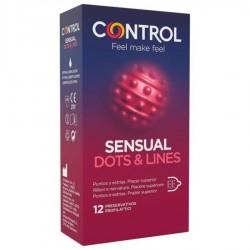 CONTROL SENSUAL DOTS & LINES PUNTOS Y ESTRIAS 12 UDS