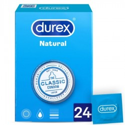 DUREX NATURAL PLUS 24 UNIDADES