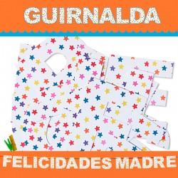 GUIRNALDA FELICIDADES MADRE (Cartulina 220gr)