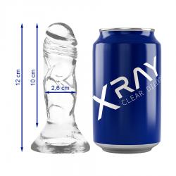 XRAY CLEAR DILDO TRANSPARENTE 12CM X 2.6CM