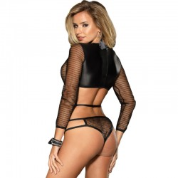 PASSION EROTIC LINE TANGA NEGRO MT018